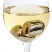SPARQ Wine Pearls -Set of 4 Hand Polished Stainless Steel Metal Chillers