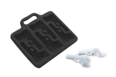 TECH-SMART Pistol Shaped Food Grade Ice Cube Tray Maker, Silicone Chocolate .Pudding Ice Mould, Cool, Safe, DIY, Funny H023
