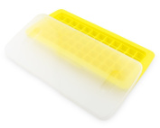 Mini Perfect Houseware Trays Plastic Ice Cube Tray with Lid/Cover Freeze Holder Drinks Kitchen Party Yellow