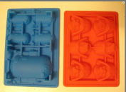 Star Wars R2-d2 Darth Vader Silicone Birthday Chocolate Candy Mould Ice Tray Set of 2
