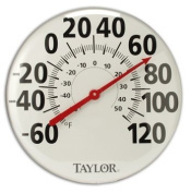 45.7cm LV Analogue Indoor/Outdoor Thermometer