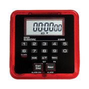 Sper Scientific 810026R Count Up/Count Down Timer with Memory, Magnetic, Clip or Stand Mount, 100 Hrs., 7cm L x 7cm x 1.3cm D