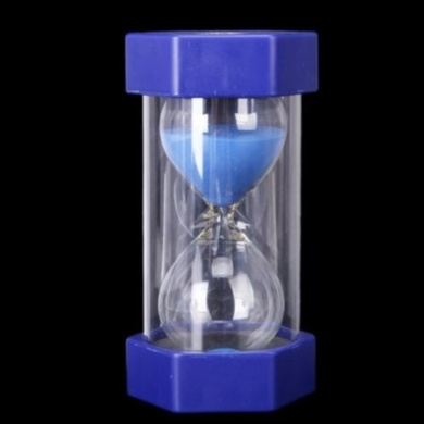 Security Fashion Hourglass 60 Minutes Sand Timer -Blue