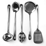 Cook's Corner 5-Piece Stainless Steel Kitchen Utensil Set