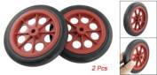 Amico 2 Pcs Replaceable Shopping Basket Cart 11.2cm Wheels Red Black