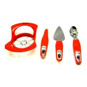 Amana ATK012RD Simply Apple Pie Gadget Set, Red