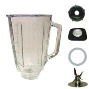 5 cup, square top glass jar assembly.