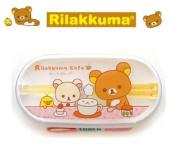 Rilakkuma Cafe Lunch Box Bento w/ chopstick & band