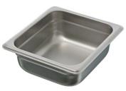 Update International SPH-162 Stainless Steel Anti-Jam Steam Table Pan, Sixth Size, 6.4cm