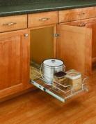 Rev-A-Shelf 5WB1-1822-CR 45.7cm Single Pull-Out Chrome Wire Basket (55.9cm Slides) - Wire-Chrome