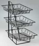 Black Powder Coat Wire Basket Rack