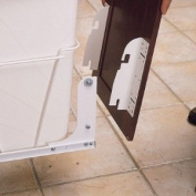 Hardware Distributors RSRV.DM.KIT.100 Door Mount Kit for RV Series Pull-out Waste Bins - White
