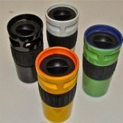 JoPilot Black Stoneware Travel Mug