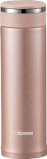 Zojirushi SM-JTE46PX Stainless Steel Travel Mug with Tea Leaf filter , 470ml/0.46-Litre, Pink Champagne
