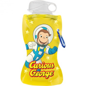 Vandor 49010 Curious George Collapsible Water Bottle, 350ml, Multicoloured