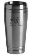 16-ounce Stainless Travel Mug - I Love My Boston Terrier