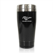 Ford Mustang Black Stainless Steel Travel Mug, Official Licenced