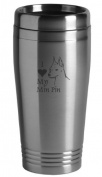 16-ounce Stainless Travel Mug - I Love My Min Pin