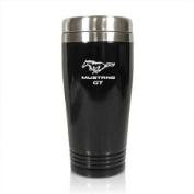 Ford Mustang GT Black Stainless Steel Travel Tumbler Mug