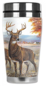 Mugzie® brand 470ml Travel Mug with Insulated Wetsuit Cover - White Tail Deer