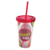 Life Is Great At 50!,Insulated Cup with Straw 500ml,Tumbler,4x10.2cm x 15.9cm