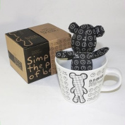 SYNC - [Black Clock] Stuffed Bear Mug