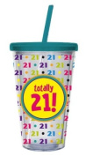 Totally 21!,Insulated Cup with Straw 500ml,Tumbler,4x10.2cm x 15.9cm