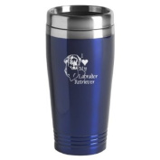 16-ounce Stainless Travel Mug - I Love My Jack Russell Terrier - Blue