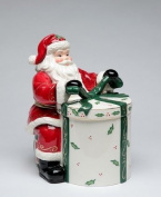 Cosmos Gifts 10455 Emerald Holiday Santa Cookie Jar, 25.4cm
