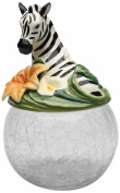 Cosmos Gifts 10804 Zebra Cookie/Candy Jar with Ceramic Lid, 24.1cm