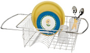 Better Houseware Corp Adjustable Stainless Steel Over the Sink Dish Drainer Rack