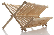 Norpro Natural Wood Folding Dish Dry Rack