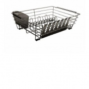 Rubbermaid 1G11M6CSHM Evolution LargeDish Drainer with Loft, Cashmere