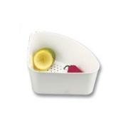 Corner Sink Strainer (White)