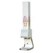 White Countertop Boxed Cone Dispenser Stand