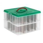 Snap 'N Stack Seasonal Home Storage 33cm x 33cm Square Ornament Box