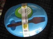 Portable Salad Container for Lunch - Salad Dressing Container and Fork included