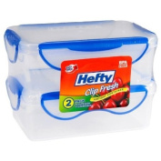 Hefty Clip Fresh Food Storage Container - 2 pack - 4.6 Cups Rectangular