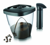 Vacu Vin Coffee and Tea Storage Container with Vacuum Pump - Medium, 1.30 Litre, Black