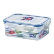Lock & Lock 16-Fluid Ounce Rectangular Food Container with Divider, Short, 1.9-Cup