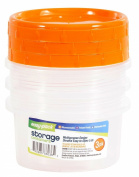 Easy Pack Plastic Storage Container, 460ml, 3-Pack