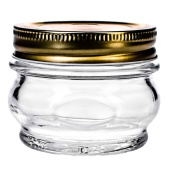 Global Amici Z7AB151S6R Orto Canning Jars with Lids, 220ml, Set of 6