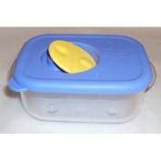 Kitchenware Small 1 Cup Rock N Serve Microwave Container - Baby Blue Seal with Yellow Vent