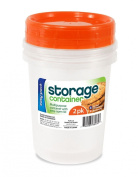 Easy Pack Plastic Storage Container 900ml, 2-Pack