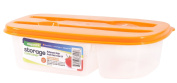 Easy Pack Plastic Storage Container with knife and fork, 1.2-Litre