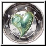Pewter Kitchen Strainer Love Heart