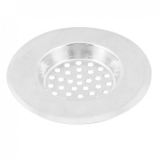 Home Kitchen Silver Tone Stainless Steel Water Sink Drainer Strainer 7.4cm Dia