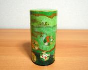 Hana Nishiki Japanese Green Tea Metal Tin [ Green ]
