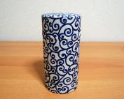 Aizome Blue Japanese Tea Storage Tin Type 1