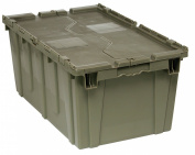 Quantum QDC2717-12 Attached Lid Container 68.6cm by 43.2cm by 30.5cm , Grey
